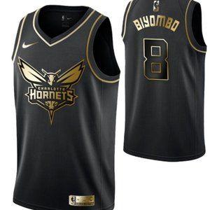 Men's Charlotte Hornets #8 Bismack Biyombo  Swingm